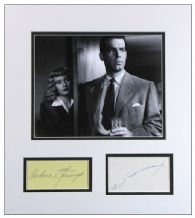 Double Indemnity Autograph Display - Stanwyck & MacMurray